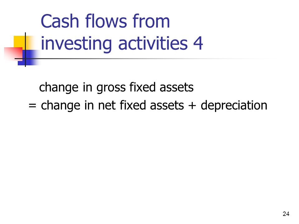 Cash flows from investing activities 4