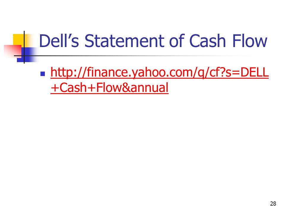 Dell's Statement of Cash Flow