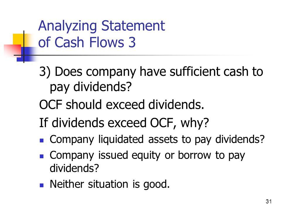 Analyzing Statement of Cash Flows 3
