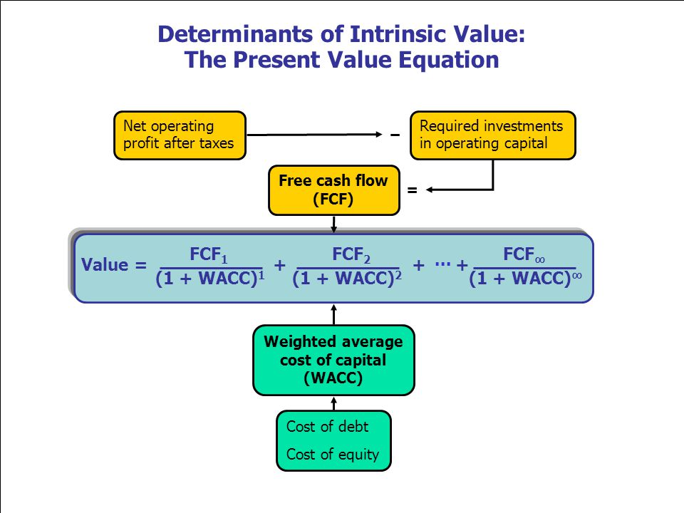 Determinants of Intrinsic Value: The Present Value Equation