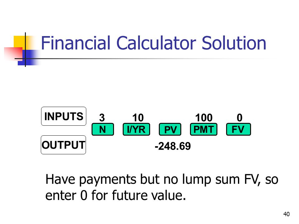 Financial Calculator Solution