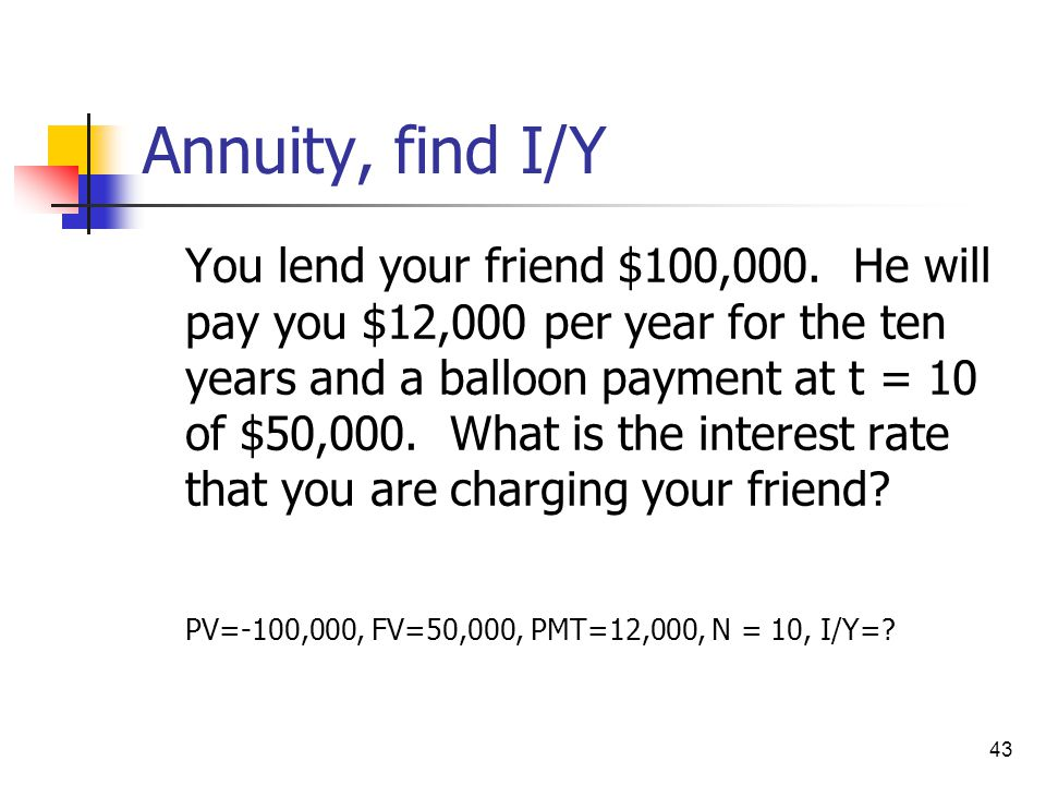 Annuity, find I/Y