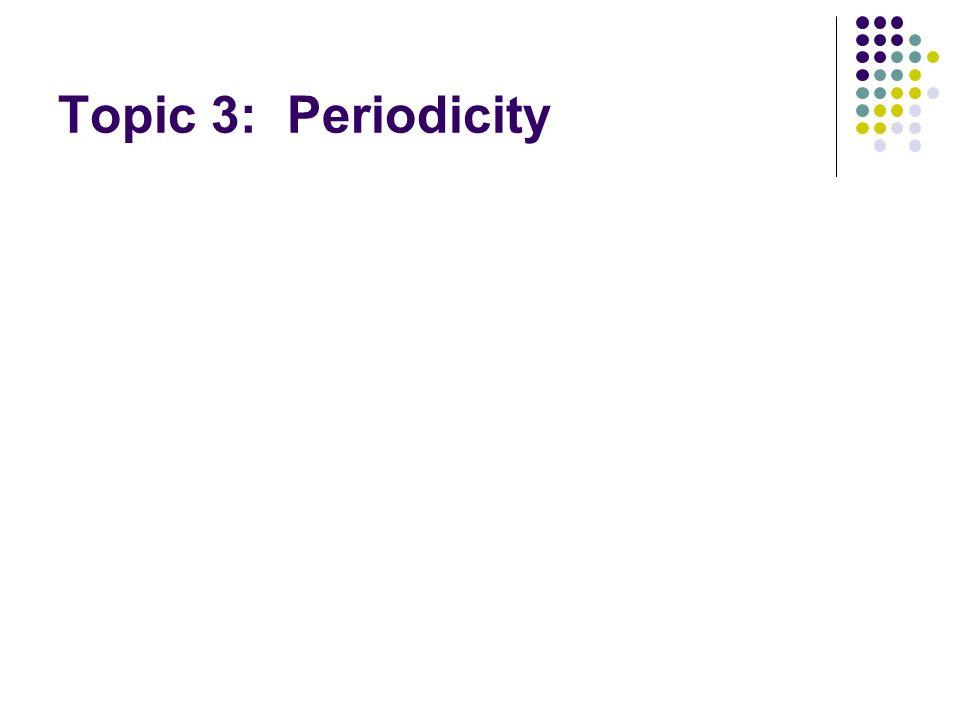Topic 3: Periodicity