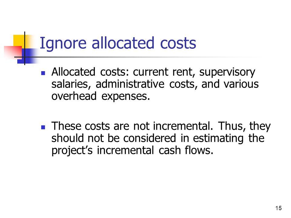 Ignore allocated costs