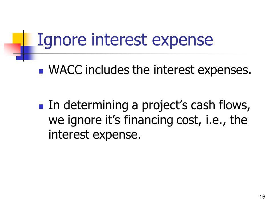 Ignore interest expense