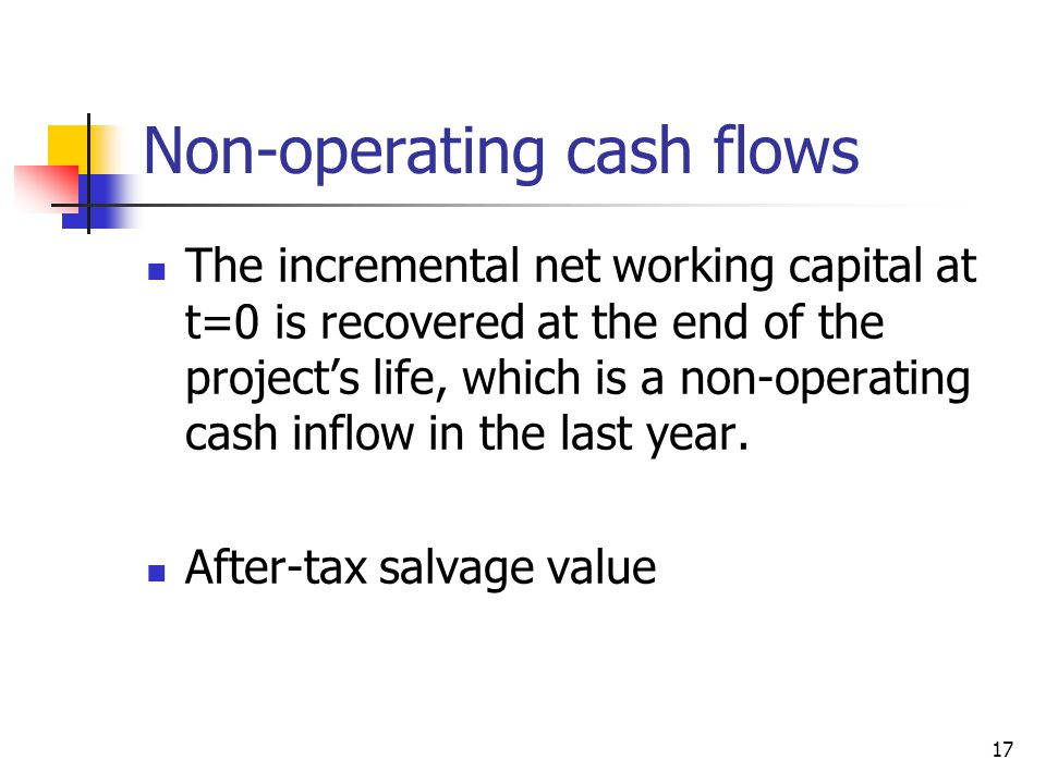 Non-operating cash flows