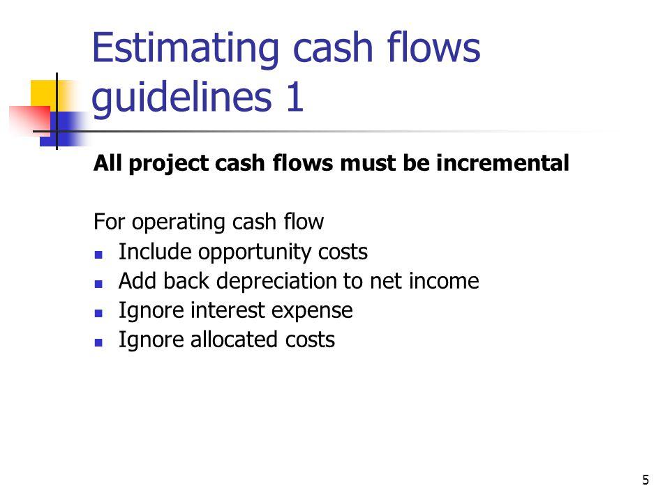 Estimating cash flows guidelines 1