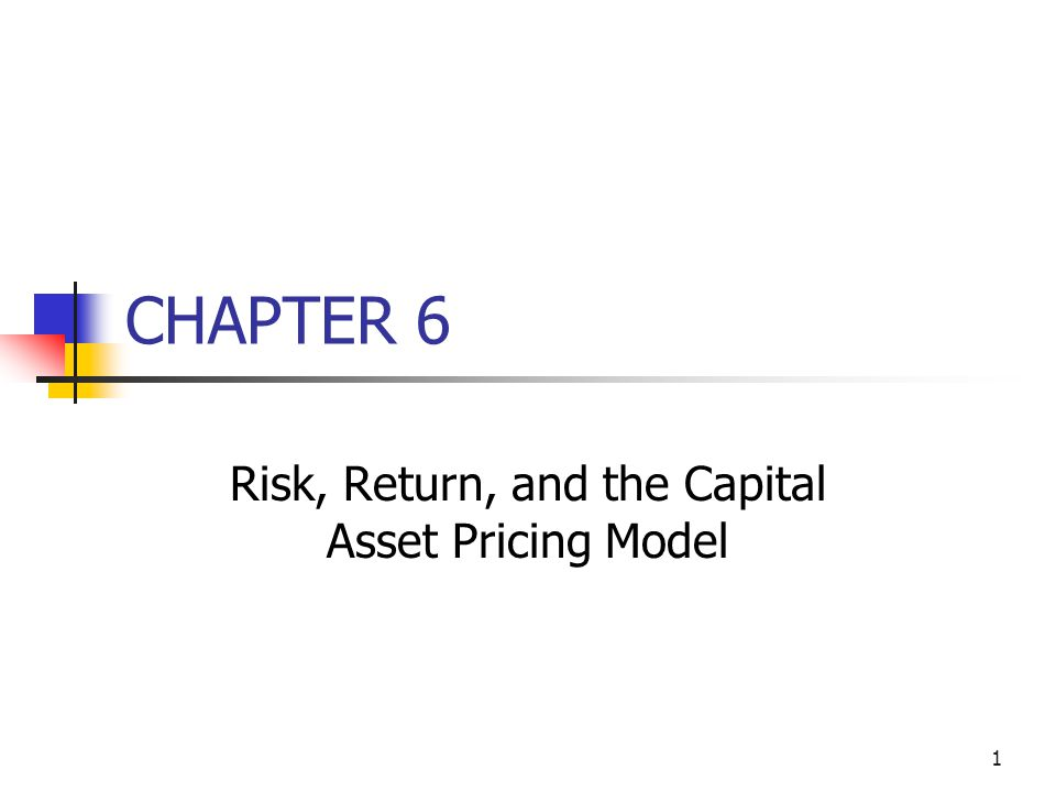 Risk, Return, and the Capital Asset Pricing Model