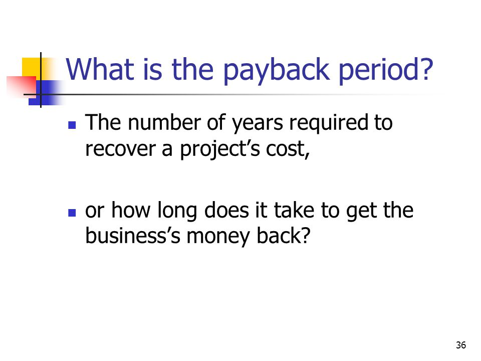 What is the payback period