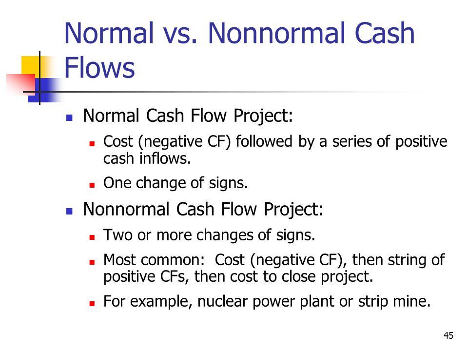 Normal vs. Nonnormal Cash Flows