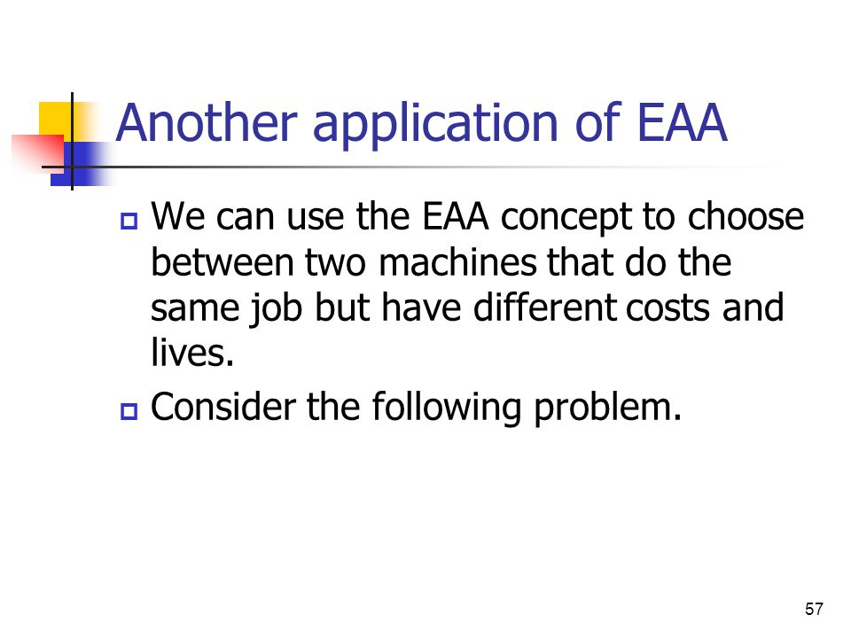 Another application of EAA