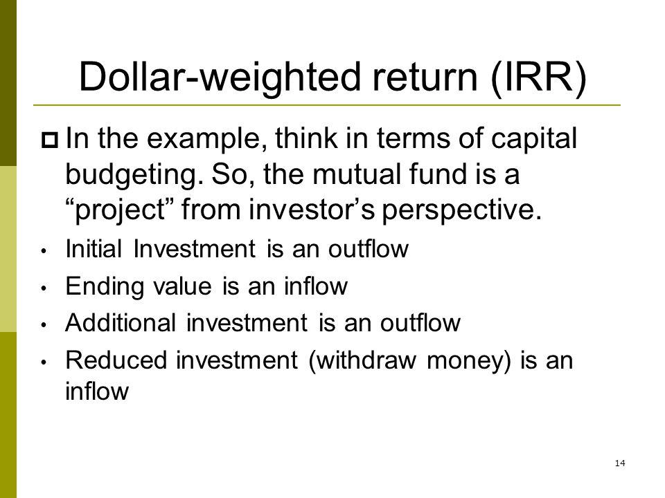 Dollar-weighted return (IRR)