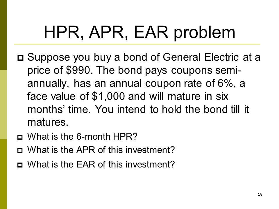 HPR, APR, EAR problem