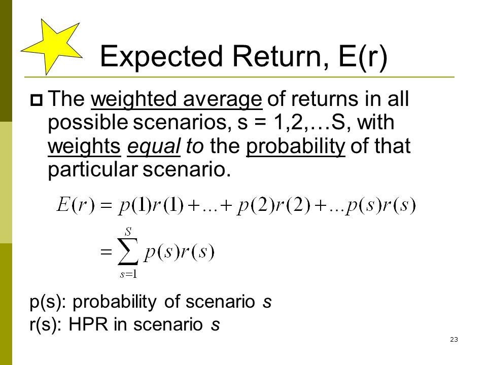 Expected Return, E(r)