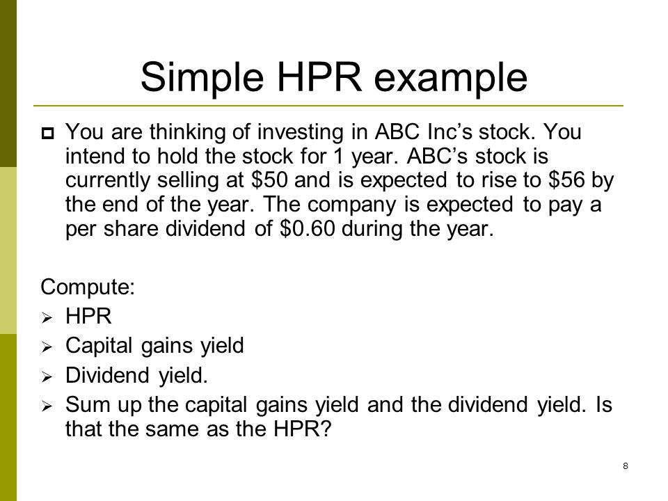 Simple HPR example