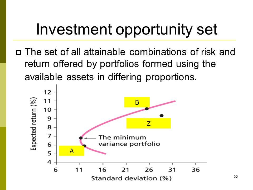 Investment opportunity set