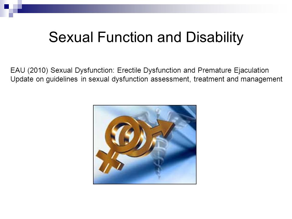 Sexual Function and Disability