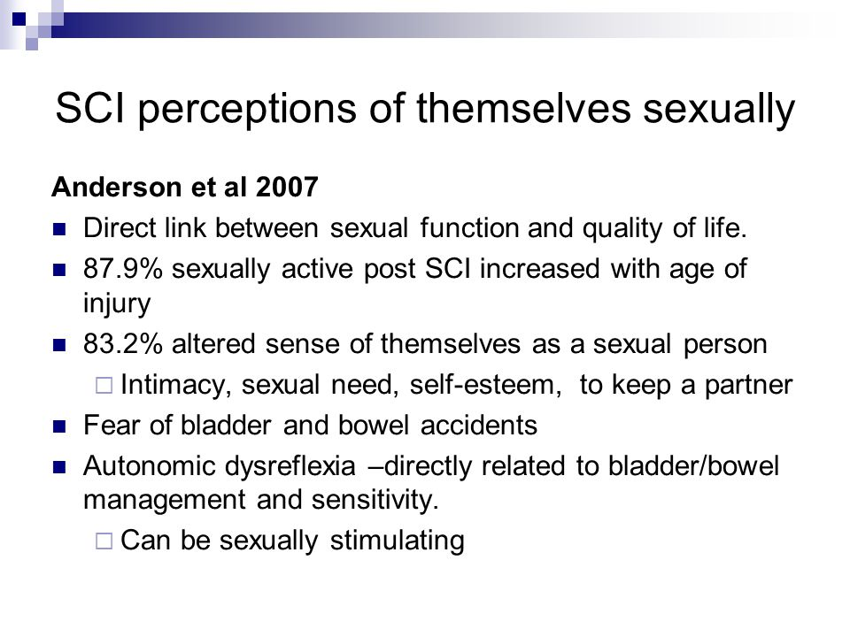 SCI perceptions of themselves sexually