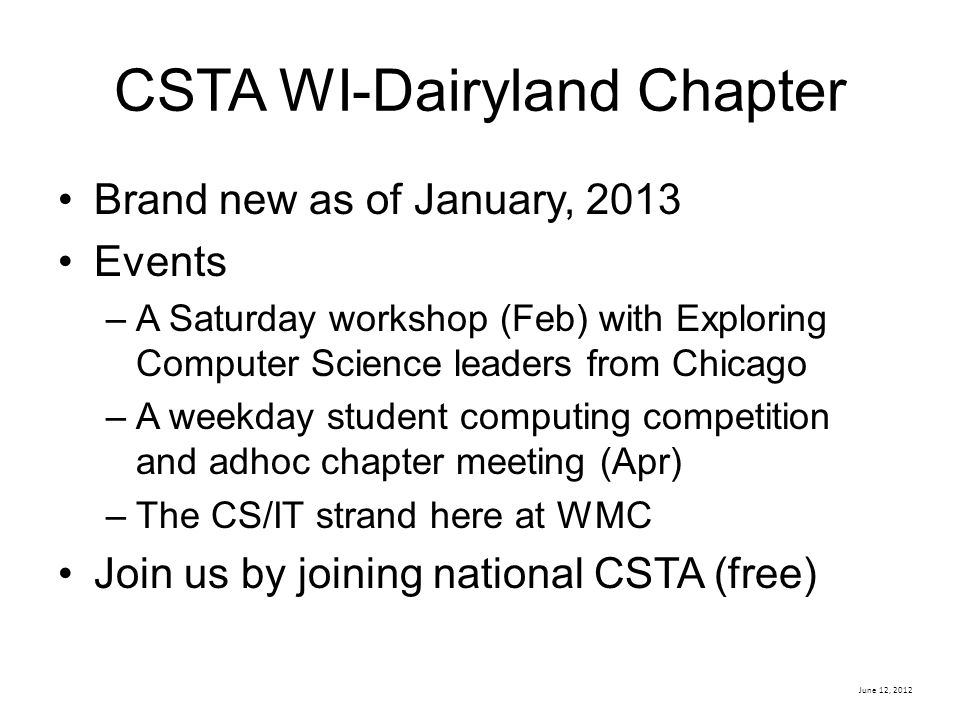 CSTA WI-Dairyland Chapter