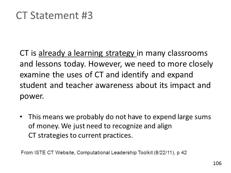CT Statement #3