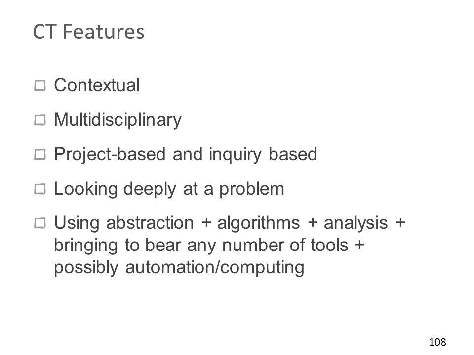 CT Features Contextual Multidisciplinary