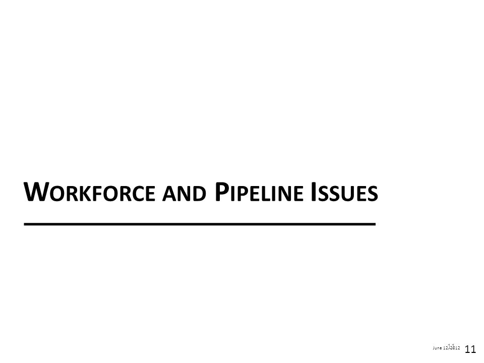 Workforce and Pipeline Issues