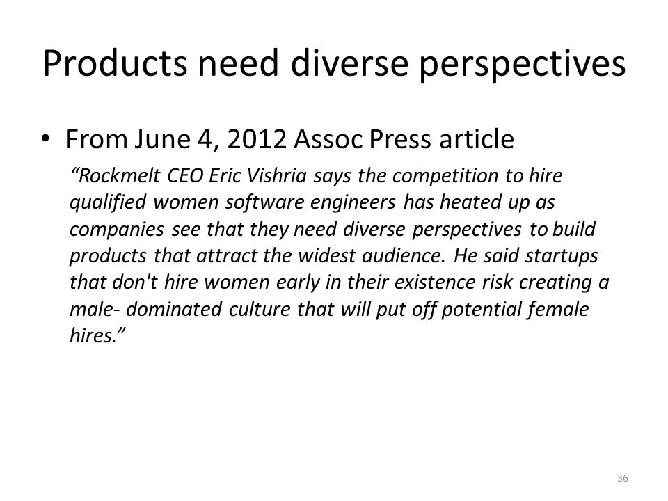 Products need diverse perspectives