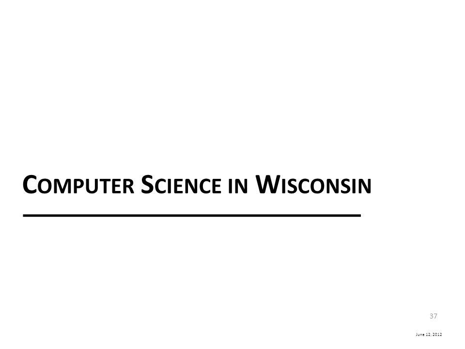 Computer Science in Wisconsin