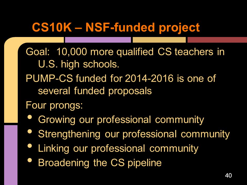 CS10K – NSF-funded project