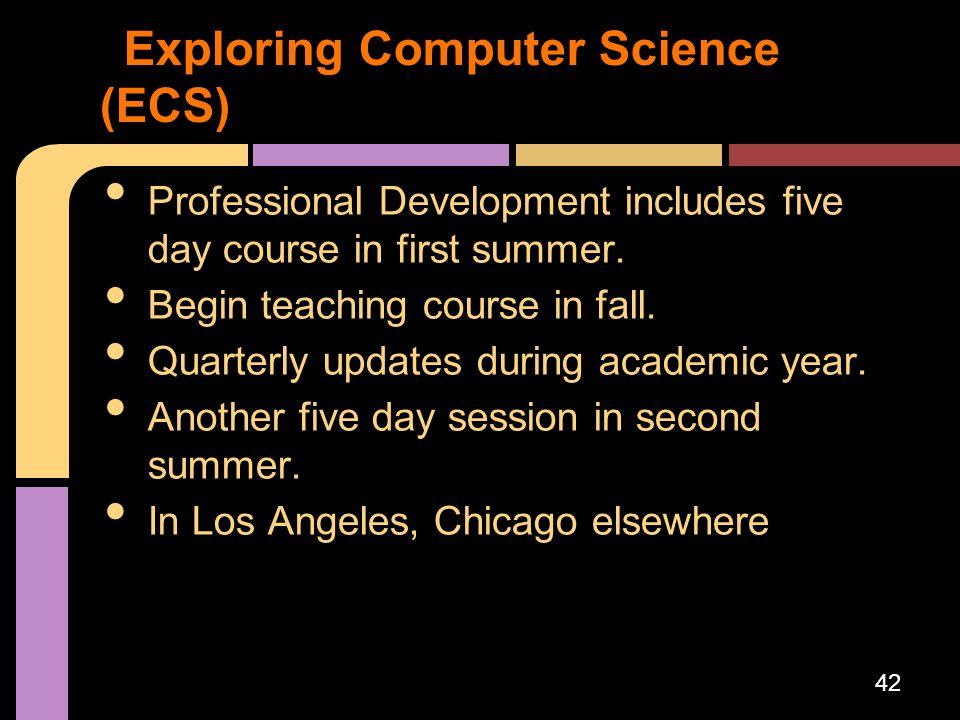 Exploring Computer Science (ECS)