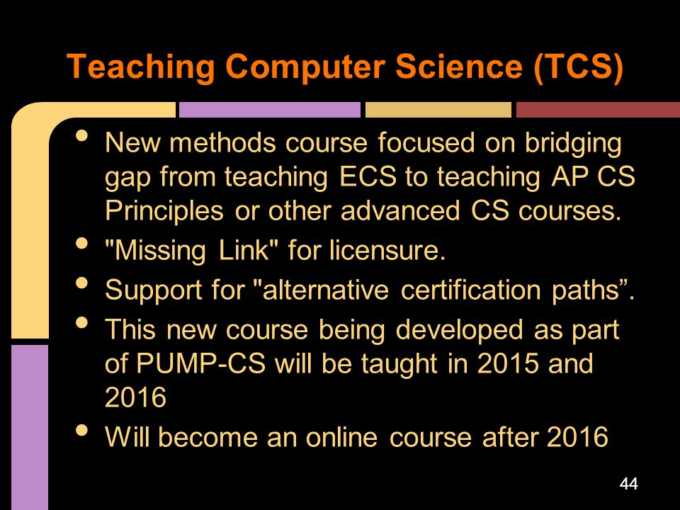Teaching Computer Science (TCS)