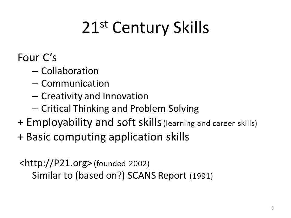 21st Century Skills Four C's