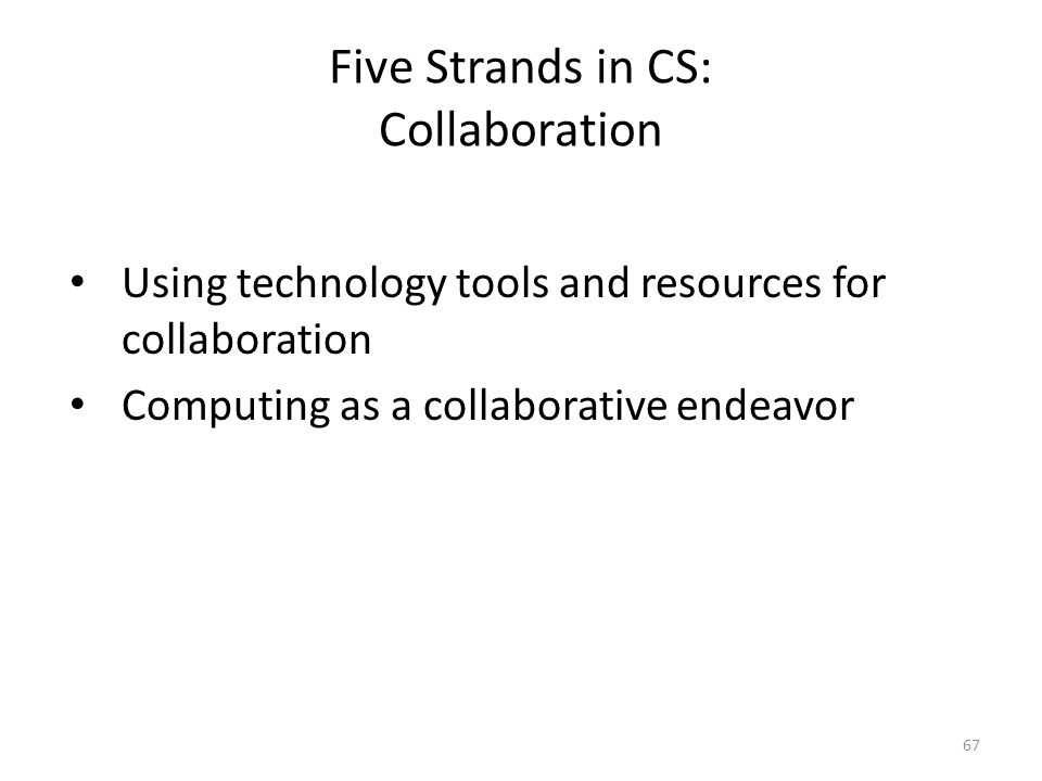 Five Strands in CS: Collaboration
