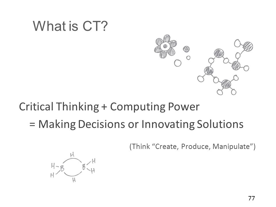What is CT Critical Thinking + Computing Power