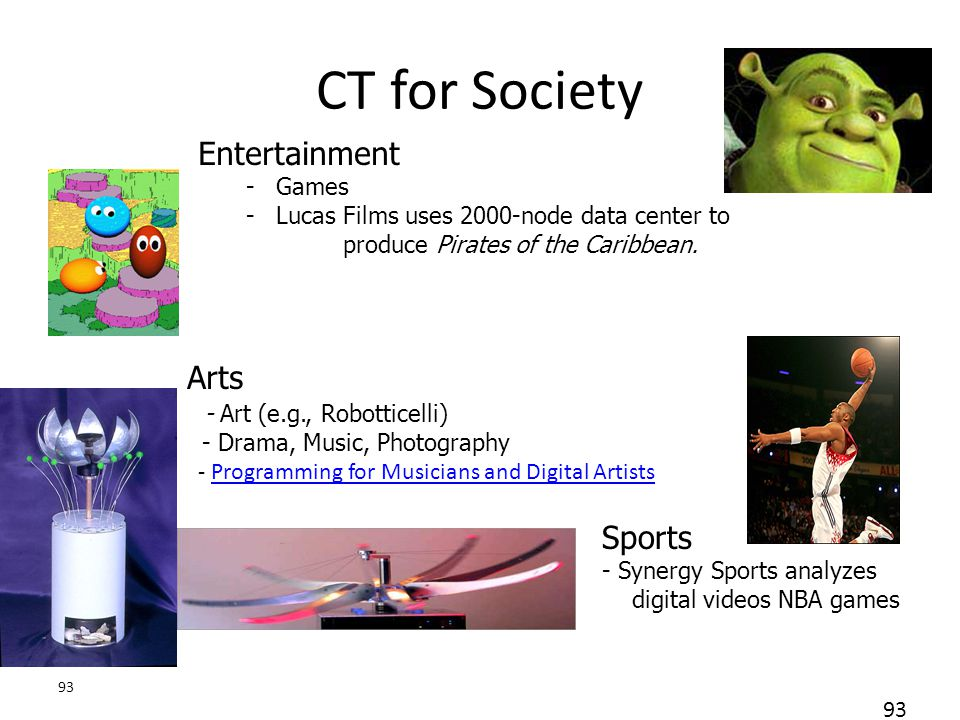 CT for Society Entertainment Arts Sports