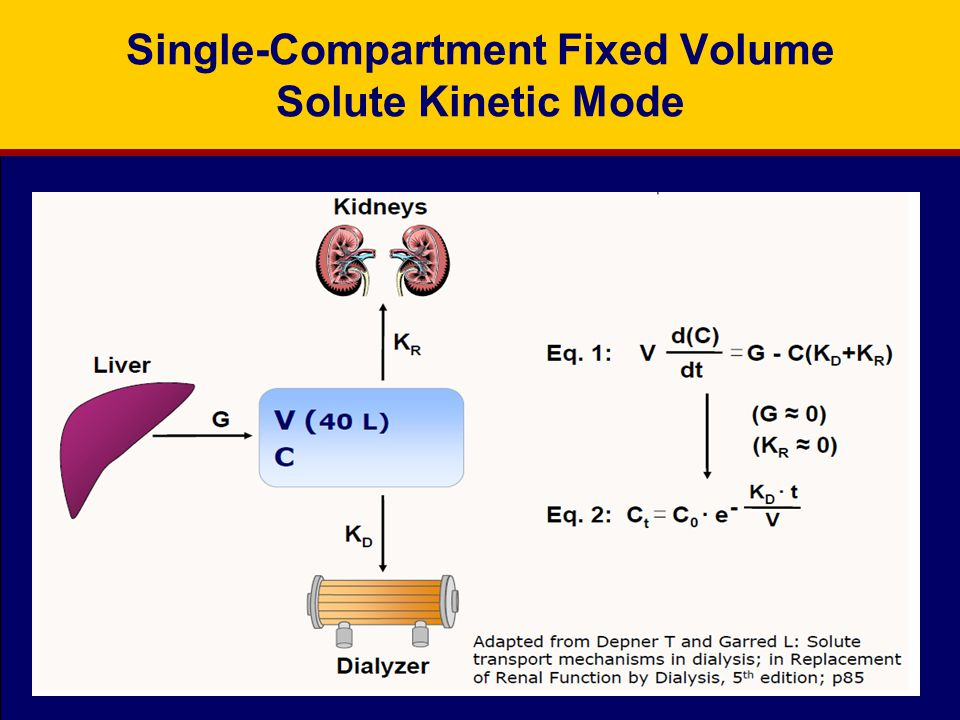 Single-Compartment Fixed Volume Solute Kinetic Mode