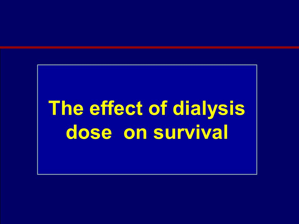 Dialysis adequacy and death