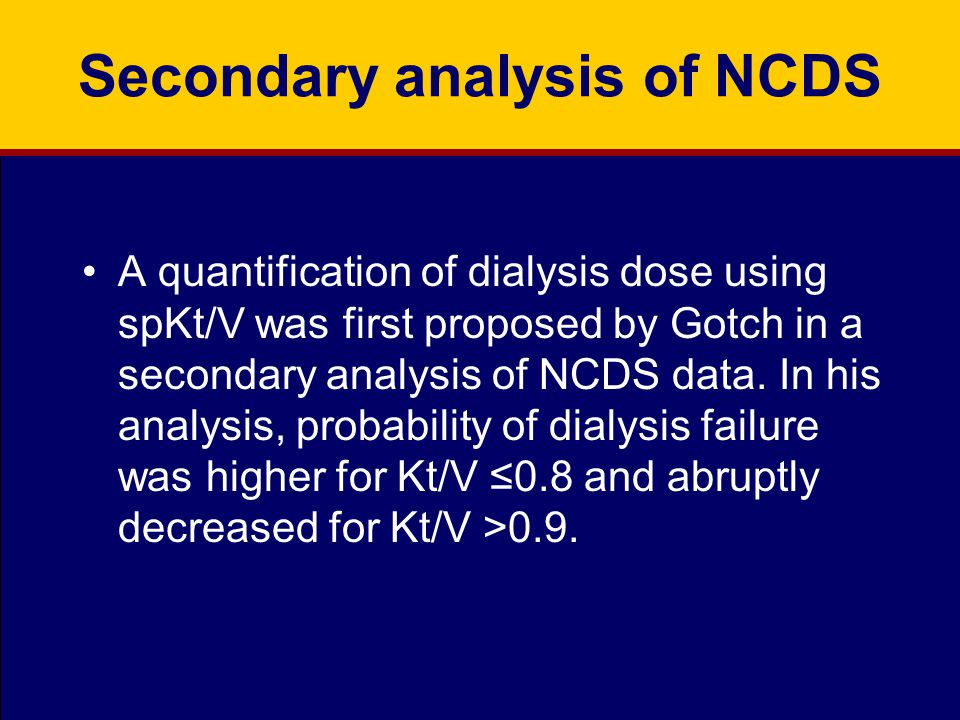 Secondary analysis of NCDS