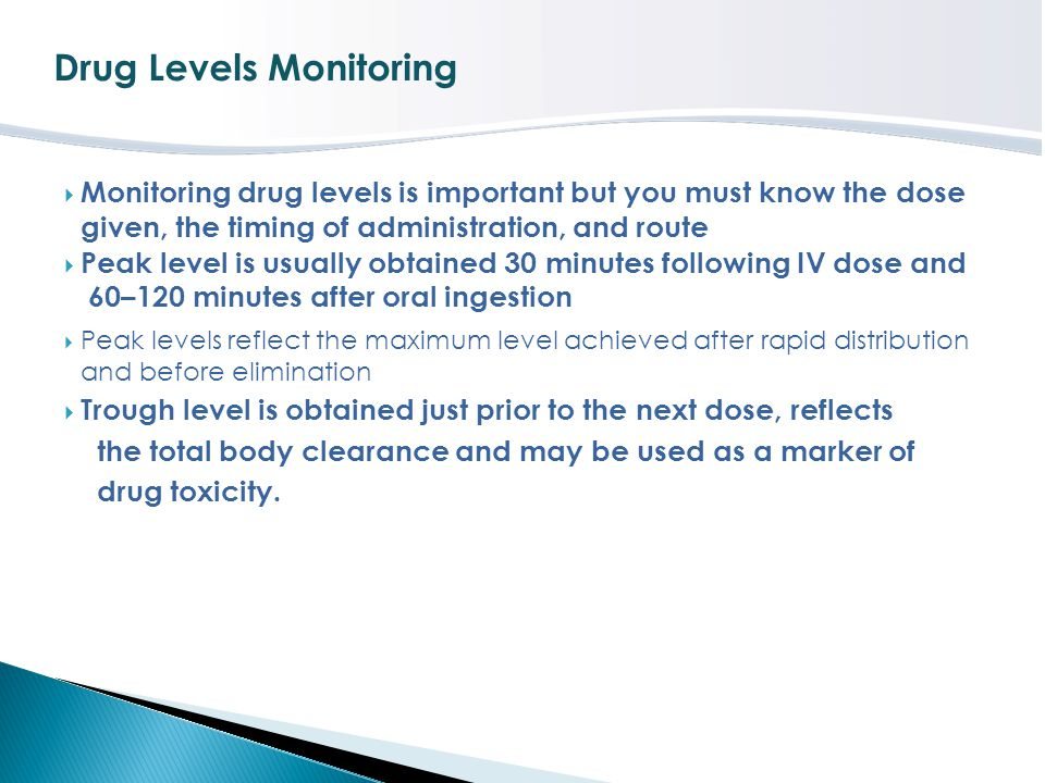 Drug Levels Monitoring