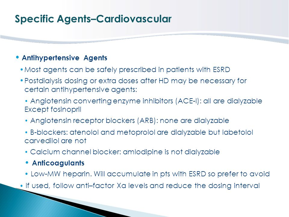 Specific Agents–Cardiovascular