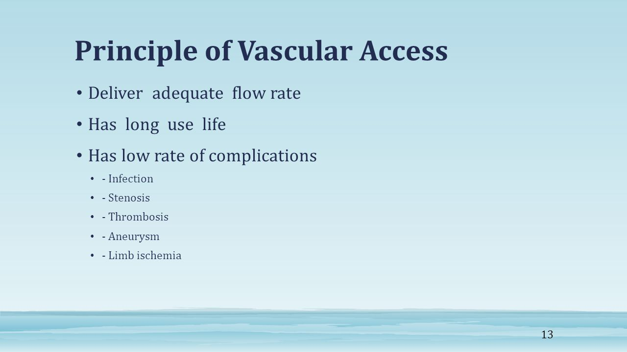 Principle of Vascular Access