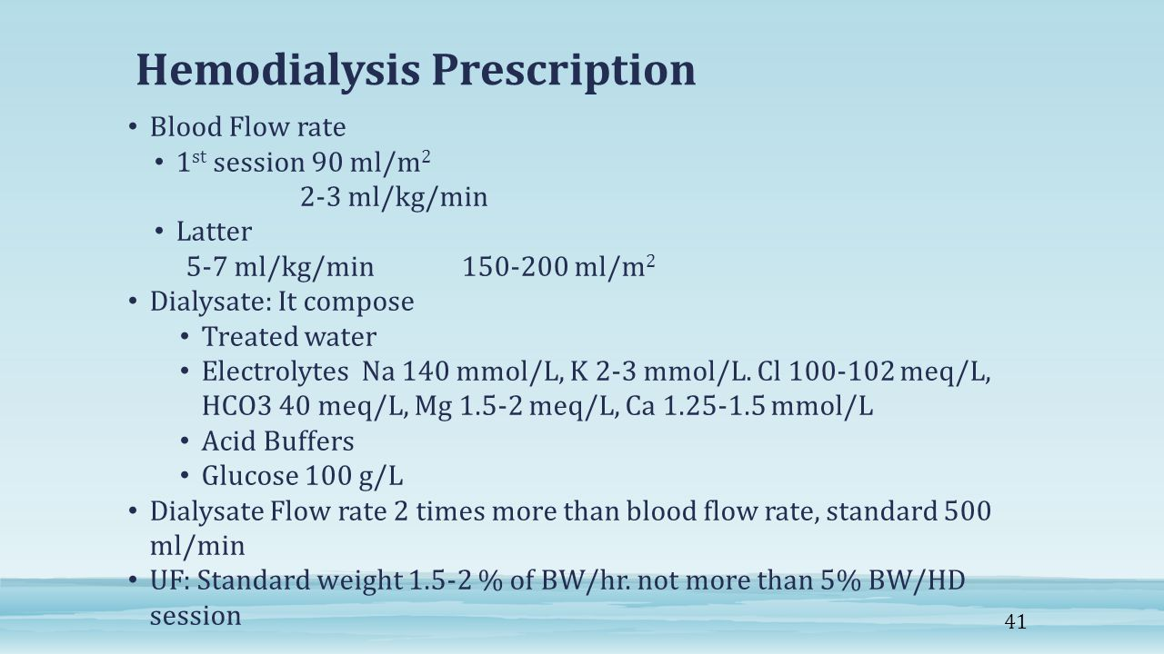 Hemodialysis Prescription