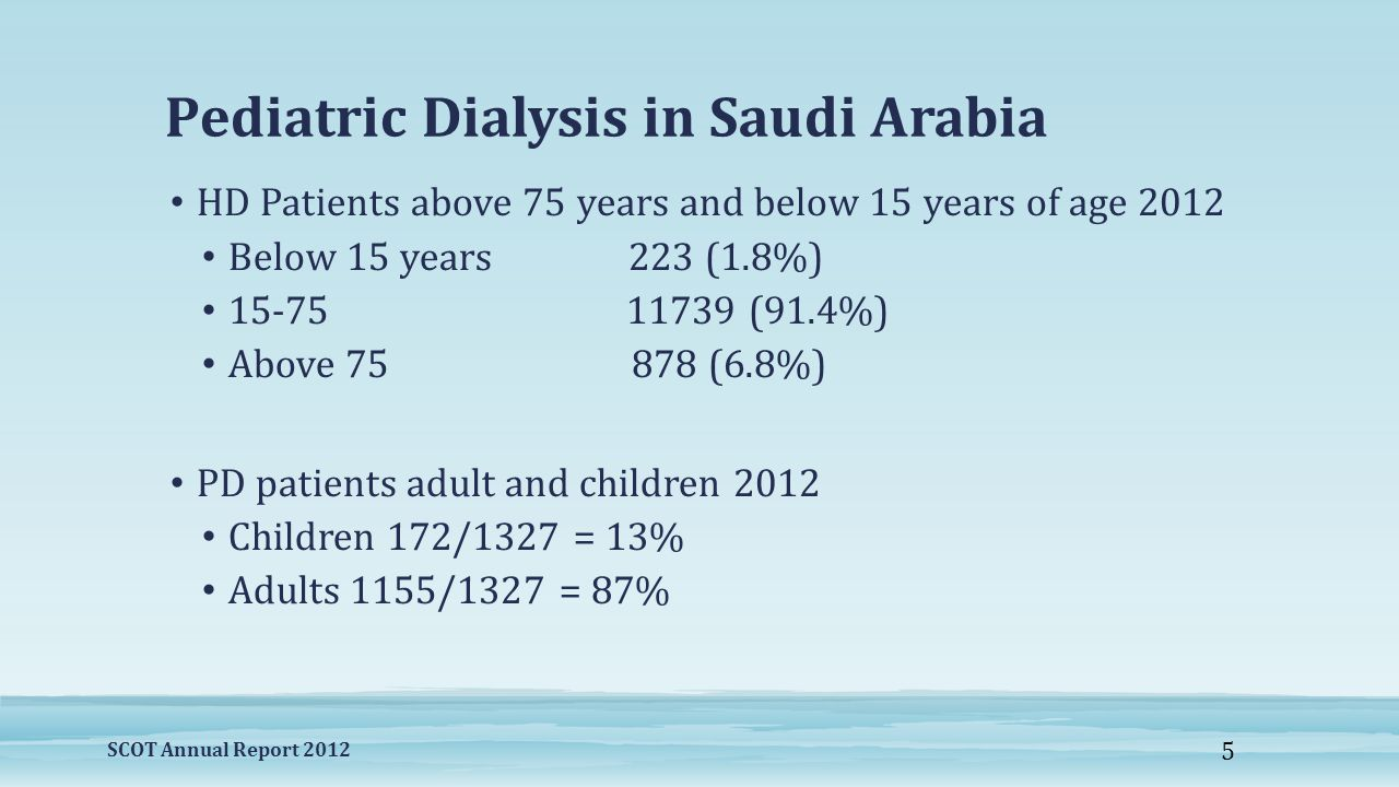 Pediatric Dialysis in Saudi Arabia