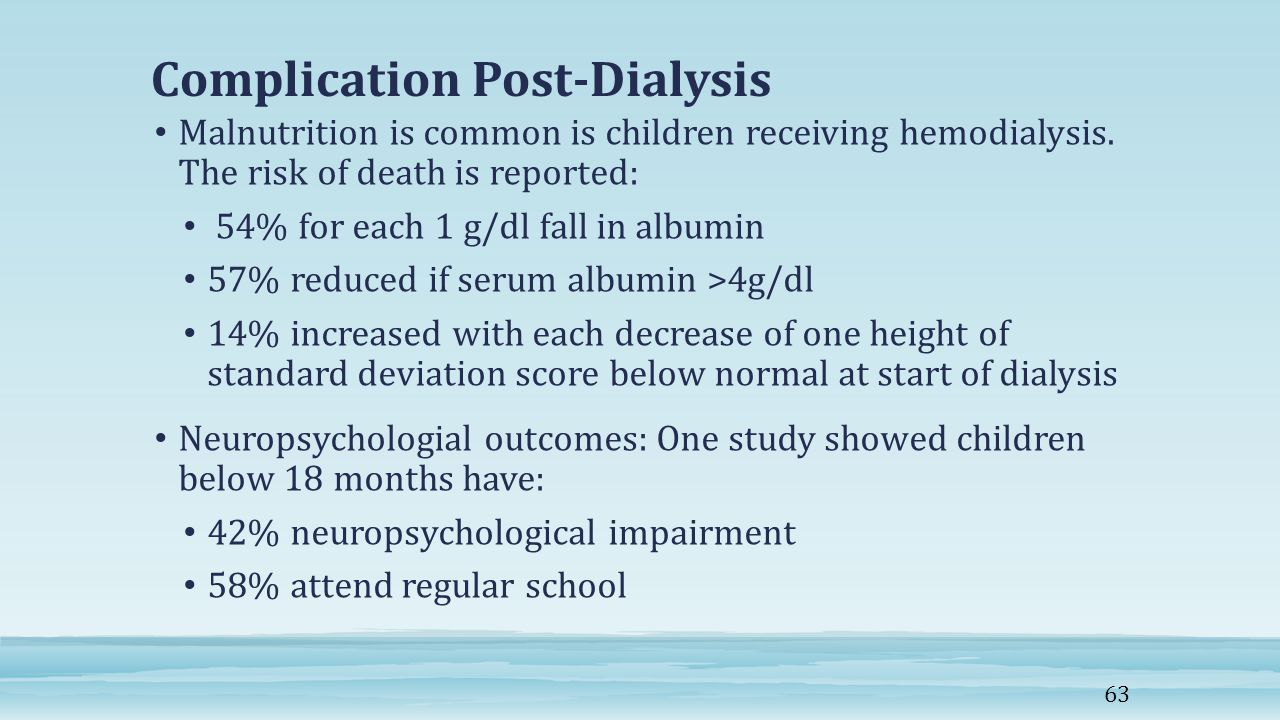 Complication Post-Dialysis