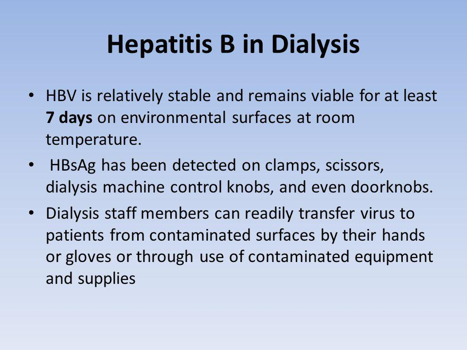 Hepatitis B in Dialysis