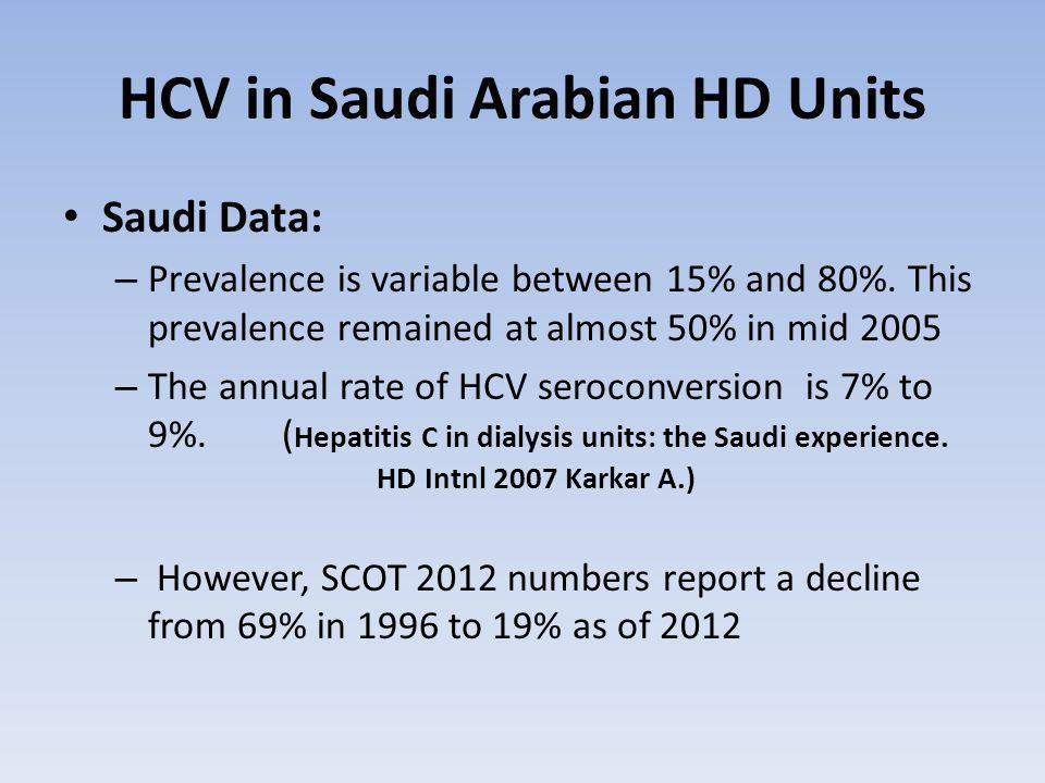 HCV in Saudi Arabian HD Units