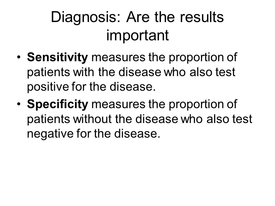 Diagnosis: Are the results important