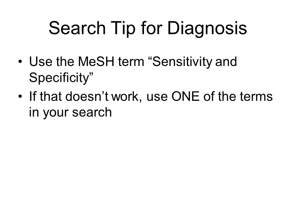 Search Tip for Diagnosis