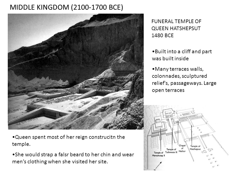 MIDDLE KINGDOM (2100-1700 BCE) FUNERAL TEMPLE OF QUEEN HATSHEPSUT