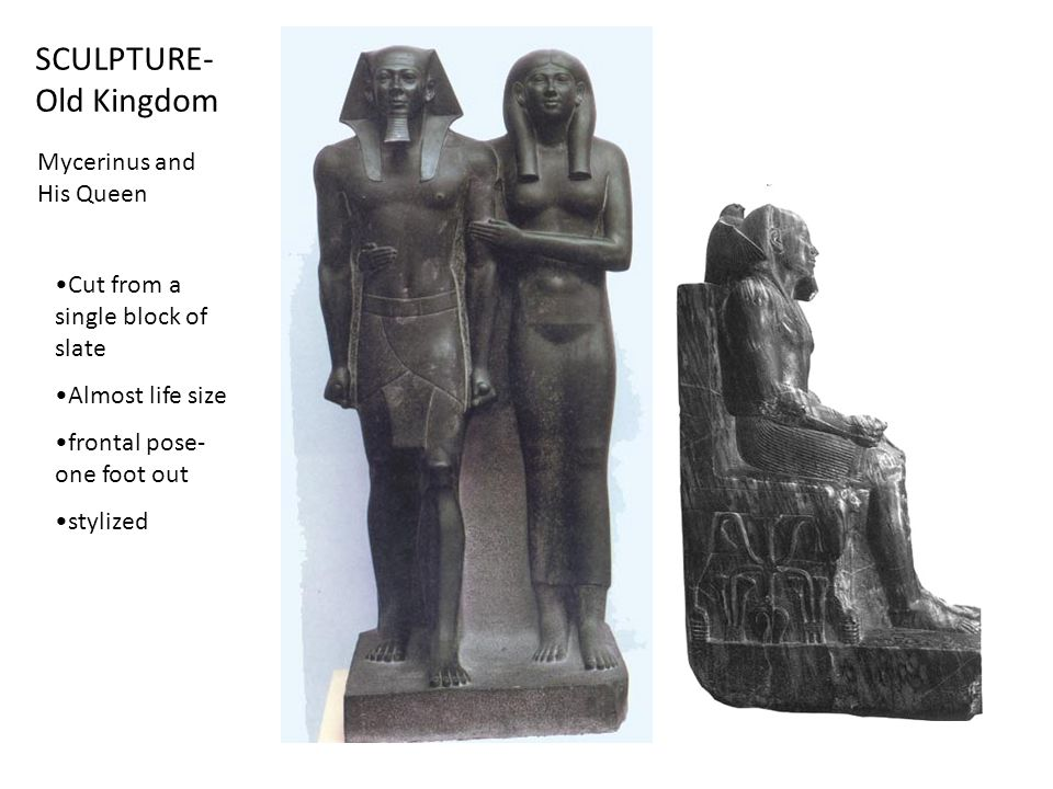 SCULPTURE- Old Kingdom Mycerinus and His Queen